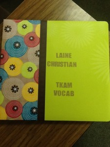 A Vocabulary Book Made by Freshman Student Laine Christian