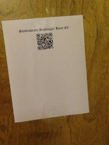 Example QR Code Sheet from our Scavenger Hunt